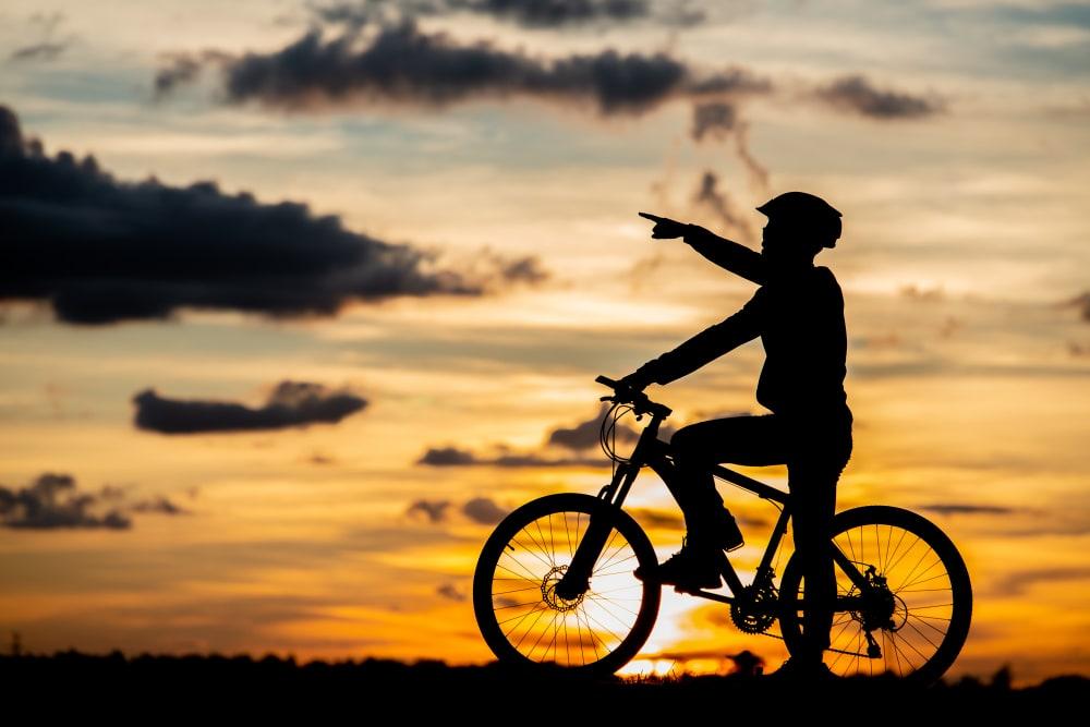 cycliste sur véloroute